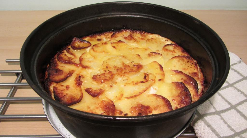 Gratinované brambory v remosce